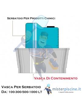 VASCA DI CONTENIMENTO DA ABBINARE AL SERBATOIO GRADUATO IN POLIETILENE - PER  VASCHE  DA 100 A 1000 LITRI