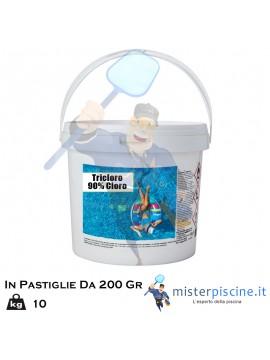 TRICLORO IN PASTIGLIE DA 200 GR - CONFEZIONI DA 10 KG - OFFERTE PRODOTTI CHIMICI PER PULIZIA PISCINA ONLINE