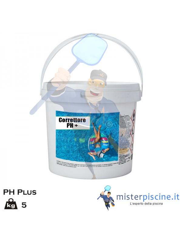 PH PLUS IN POLVERE DA 5 KG - CORRETTORE SPECIFICO PER AUMENTARE IL VALORE DEL PH - OFFERTE PISCINA ONLINE