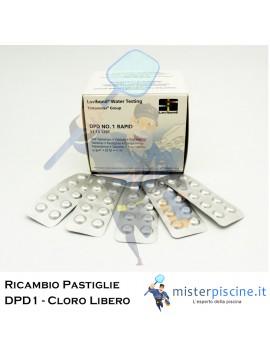 PASTIGLIE DI RICAMBIO DPD1 CLORO LIBERO - CONFEZIONE DA 100 CAPSULE - PER TEST PISCINA