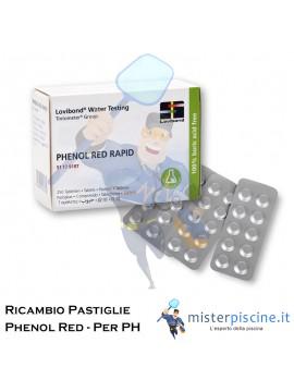 PASTIGLIE DI RICAMBIO PH-PHENOL RED - CONFEZIONE DA 100 CAPSULE - PER TEST PISCINA