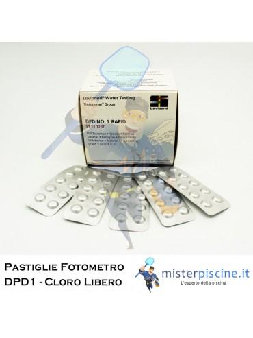 PASTIGLIE DI RICAMBIO PER FOTOMETRO - DPD1 CLORO LIBERO - CONFEZIONE DA 100 CAPSULE - PER TEST PISCINA