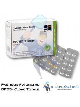 PASTIGLIE DI RICAMBIO PER FOTOMETRO - DPD3 CLORO TOTALE - CONFEZIONE DA 100 CAPSULE - PER TEST PISCINA
