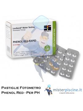 PASTIGLIE DI RICAMBIO PER FOTOMETRO - PH-PHENOL RED - CONFEZIONE DA 100 CAPSULE - PER TEST PISCINA
