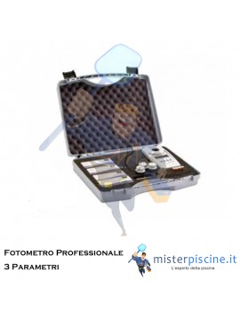 FOTOMETRO PROFESSIONALE MD100 3 IN 1 PER IL TEST DI CLORO, PH E ACIDO CIANURICO NELLE ACQUE DI PISCINE