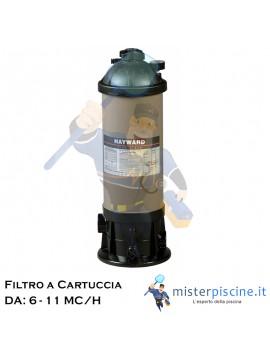 FILTRO A CARTUCCIA HAYWARD STAR CLEAR - 2 VERSIONI DA 6 E 11 MC/H - FILTRI PER SPA E PICCOLE PISCINE FUORITERRA