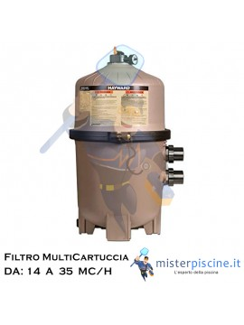 FILTRO MULTI CARTUCCIA HAYWARD SWIM CLEAR - 4 VERSIONI DA 14 A 35 MC/H - FILTRI PER PISCINE INTERRATE