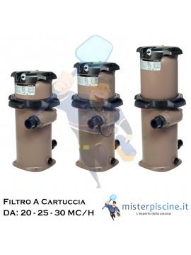 FILTRO A CARTUCCIA HAYWARD SWIM CLEAR - 3 VERSIONI DA 20 - 25 - 30 MC/H - FILTRI PER PISCINE RESIDENZIALI