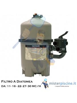 FILTRO A DIATOMEA HAYWARD PROGRID - 5 VERSIONI DA 11 A 30 MC/H - FILTRI PER PISCINE INTERRATE E FUORITERRA