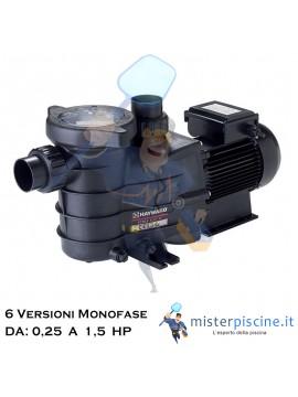 POMPA MONOFASE POWER FLO II DI HAYWARD AUTOADESCANTE CON MOTORE VENTILATO - 6 VERSIONI DA 0,25 A 1,5 HP - PER PICCOLE PISCINE
