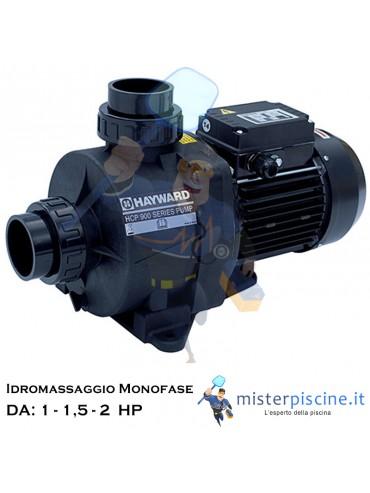 POMPA MONOFASE HCP 900 DI HAYWARD SENZA PREFILTRO PER IDROMASSAGGIO E NUOTO CONTROCORRENTE - 3 VERSIONI DA 1 A 2 HP