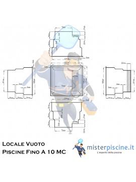 LOCALE TECNICO VUOTO IN VETRORESINA CON COPERCHIO CALPESTABILE - IDEALE PER IMPIANTO PISCINA FINO A 10 MC