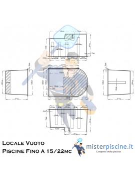 LOCALE TECNICO VUOTO IN VETRORESINA CON COPERCHIO SDOPPIATO CALPESTABILE - IDEALE PER IMPIANTO PISCINA FINO A 15 / 22 MC