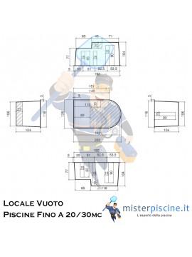 LOCALE TECNICO VUOTO IN VETRORESINA CON COPERCHIO SDOPPIATO CALPESTABILE - IDEALE PER IMPIANTO PISCINA FINO A 20 / 30 MC