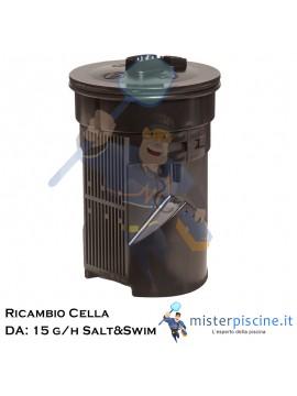 CELLA DI RICAMBIO PER CENTRALINE ELETTROLISI SALT&SWIM DA: 15 G/H