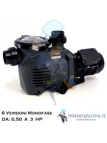 POMPA MONOFASE K FLO DI HAYWARD AUTOADESCANTE CON GIRANTE IN NORYL - 6 VERSIONI DA 0,5 A 3 HP - COMPATIBILE CON ACQUA SALATA