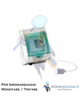 QUADRO ELETTRICO PER CONTROLLO POMPA IDROMASSAGGIO - 2 VERSIONI PER POMPE - MONOFASE - TRIFASE