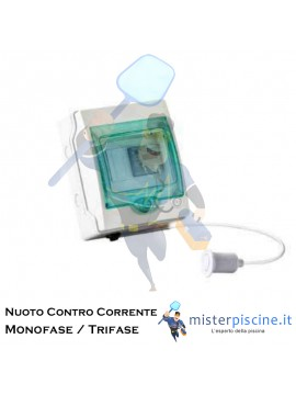 QUADRO ELETTRICO PER CONTROLLO POMPA NUOTO CONTRO CORRENTE - 2 VERSIONI DA 3 HP PER POMPE - MONOFASE - TRIFASE