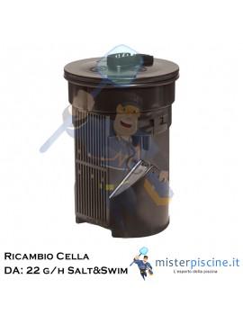 Cella di ricambio per centraline ad elettrolisi modello SALT&SWIM  PER LA VERSIONE DA: 22 G/H