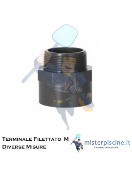 Terminale filettato M in pvc - raccordi per piscina