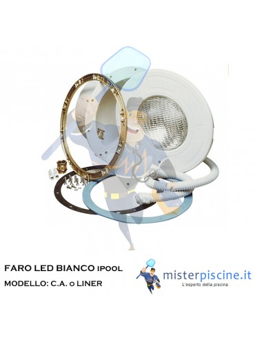 FARO IPOOL LED BIANCO  - PER C.A o LINER