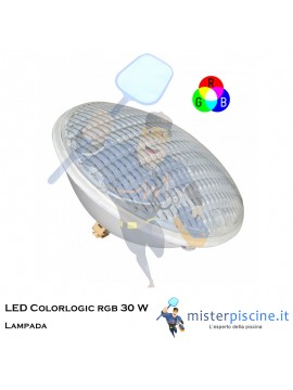 Lampada LED Colorlogic rgb 30 W | 12 V | Par 56 | Hayward