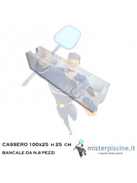 N.8 CASSERO PER PISCINA  - CASSERO 25 cm x 100 CM  - H 25 CM