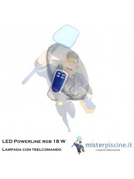 Lampada LED Powerline rgb 18 W | 12 V | Par 56 con telecomando | Hayward