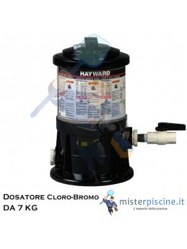 DOSATORE DI CLORO / BROMO DA 7 KG - DOSAGGIO AUTOMATICO PER PISCINE FINO A 265 MC