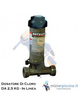 DOSATORE DI CLORO IN LINEA DA 2,5 KG - DOSAGGIO AUTOMATICO PER PISCINE FINO A 95 MC