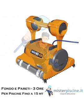 ROBOT PULITORE DOLPHIN S300i PER PISCINE FINO A 12 METRI, CONTROLLO CON SMARTPHONE - CARRELLO INCLUSO