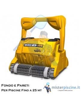ROBOT PULITORE DOLPHIN WAVE 100 PER PISCINE COMMERCIALI FINO A 25 METRI, DURATA CICLO 4/6/8 ORE  - CARRELLO INCLUSO