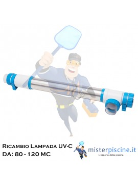 LAMPADA DI RICAMBIO PER IMPIANTO UV-C PURIQ DA 80 MC e 120 MC
