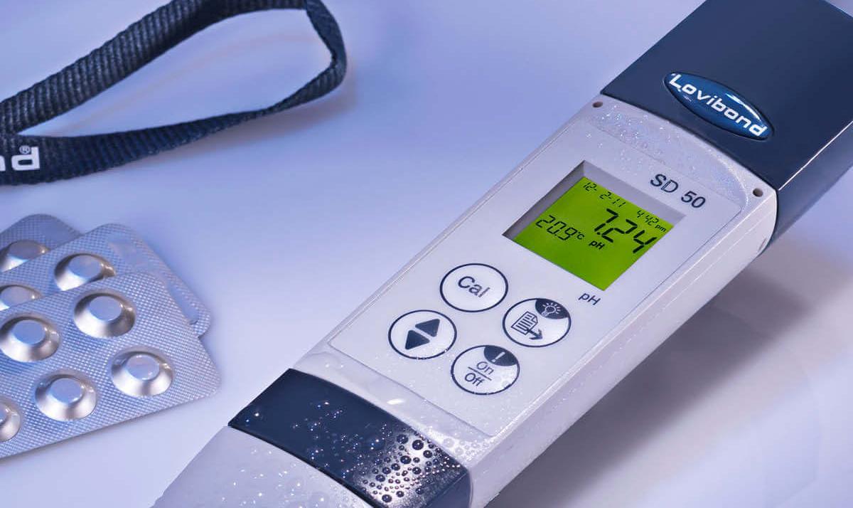 kit per la misurazione del ph in piscina