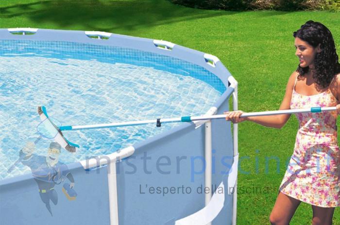 Spazzola per la pulizia di pareti e fondali piscina - 45 centimetri